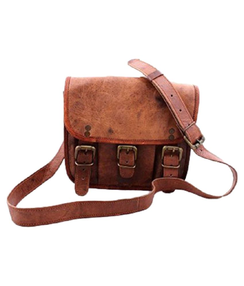Crafat Brown Leather Office Bag