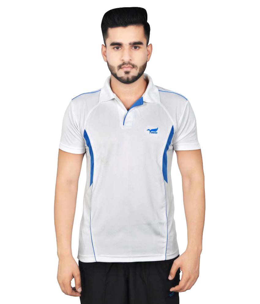 NNN White Polyester Polo T-Shirt Single Pack