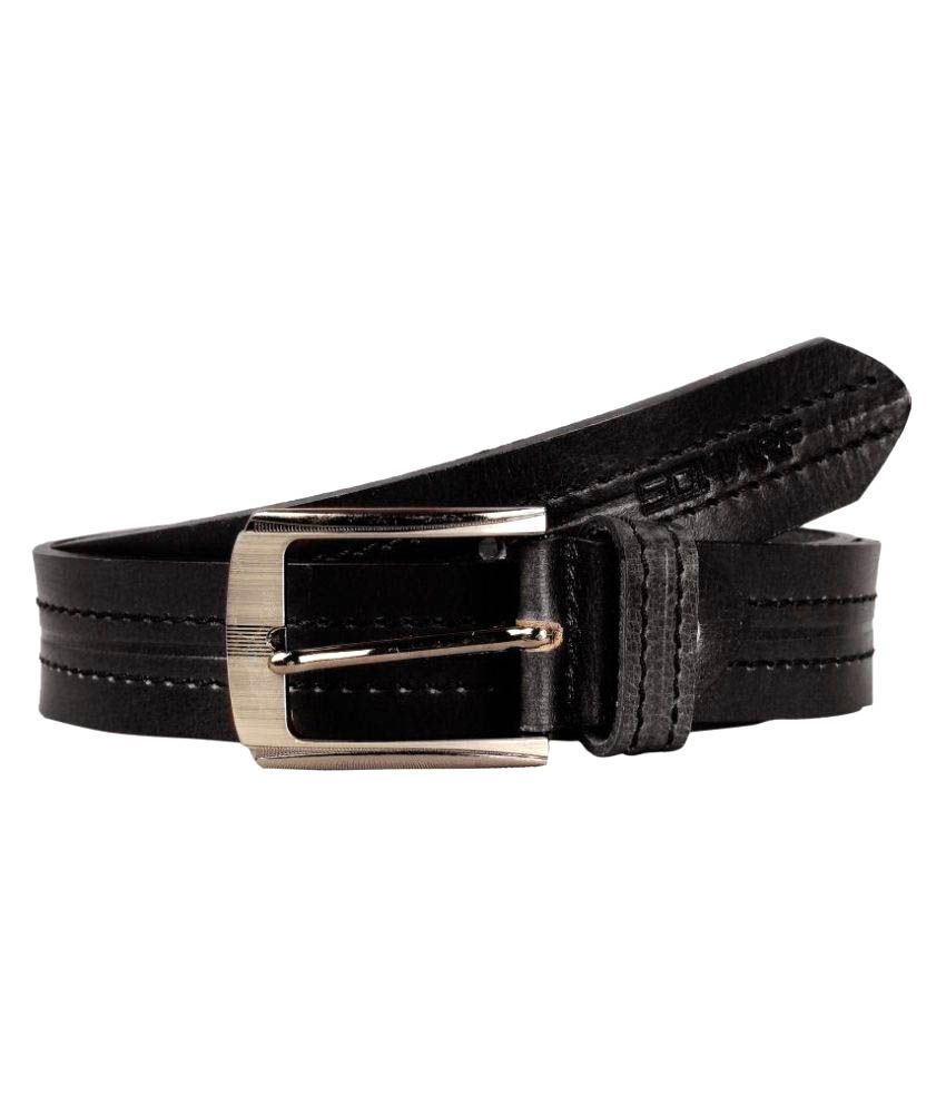 Scharf Black Leather Casual Belts