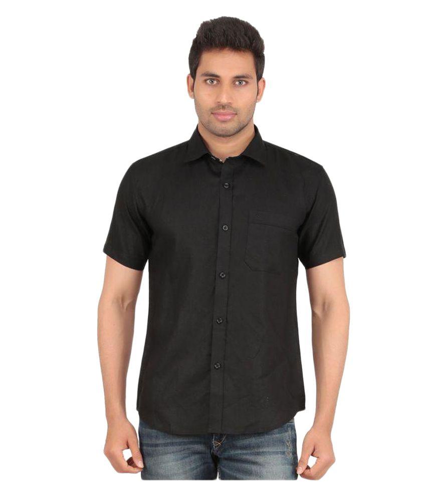All Times Black Casuals Regular Fit Shirt