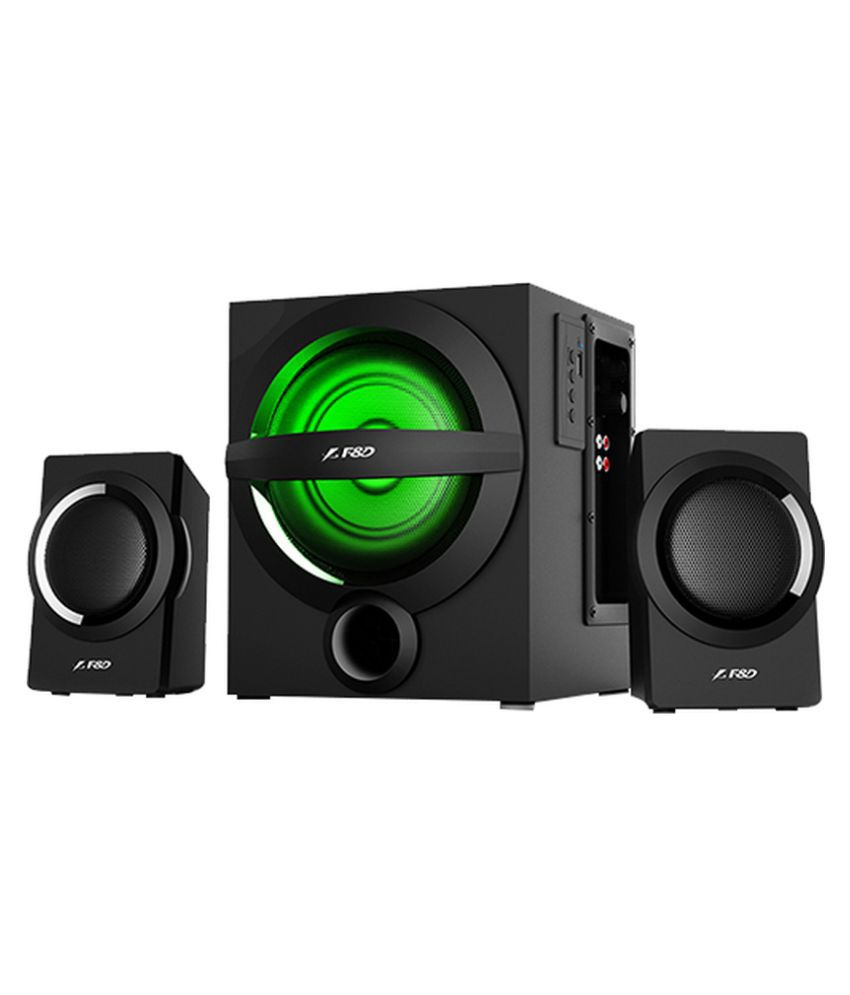 buy f d a140x 2 1 woofer bluetooth wooden multimedia speakers black rh snapdeal com