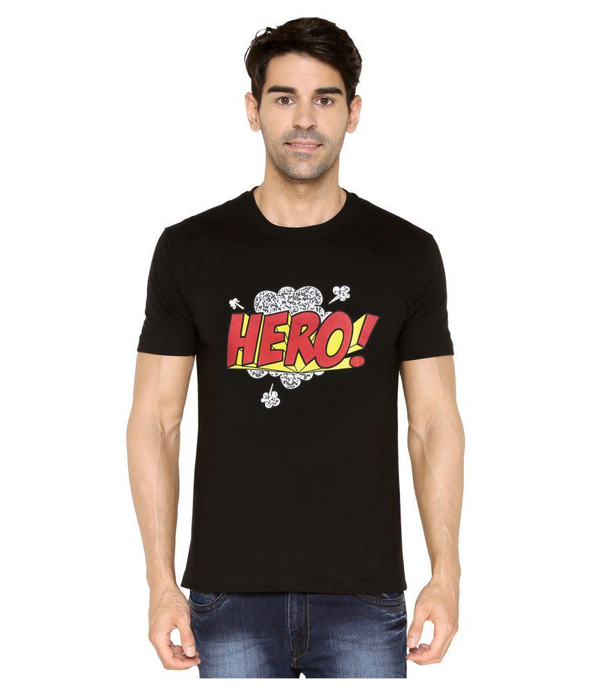 V & K Sales Black Round T-Shirt