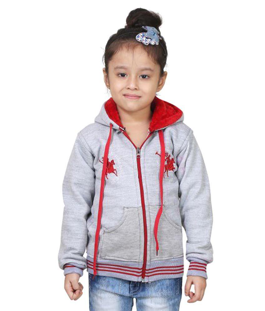 Qeboo Gray Cotton Blend Sweatshirt