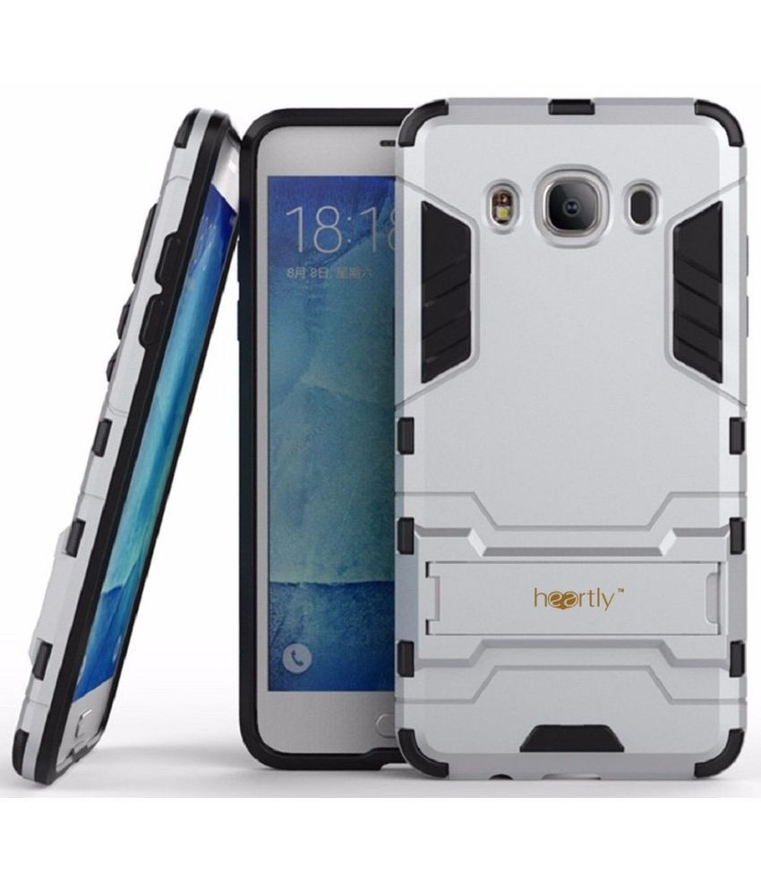 Samsung Galaxy J7 (2016) Cover by Heartly - Silver