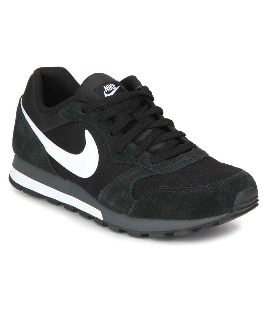 4c705463bf ... top brands 90f91 a5fe2 Nike Md Runner 2 Black Running Shoes .. ...
