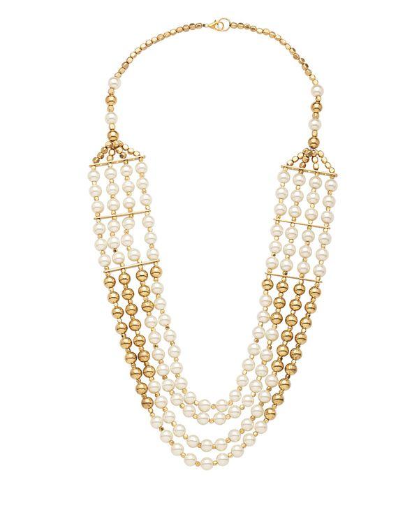 Shilpi Handicrafts Four Row Designer Pearl Necklace