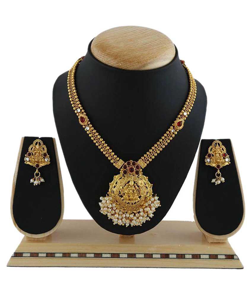 Farid Enterprises Golden Necklace Set