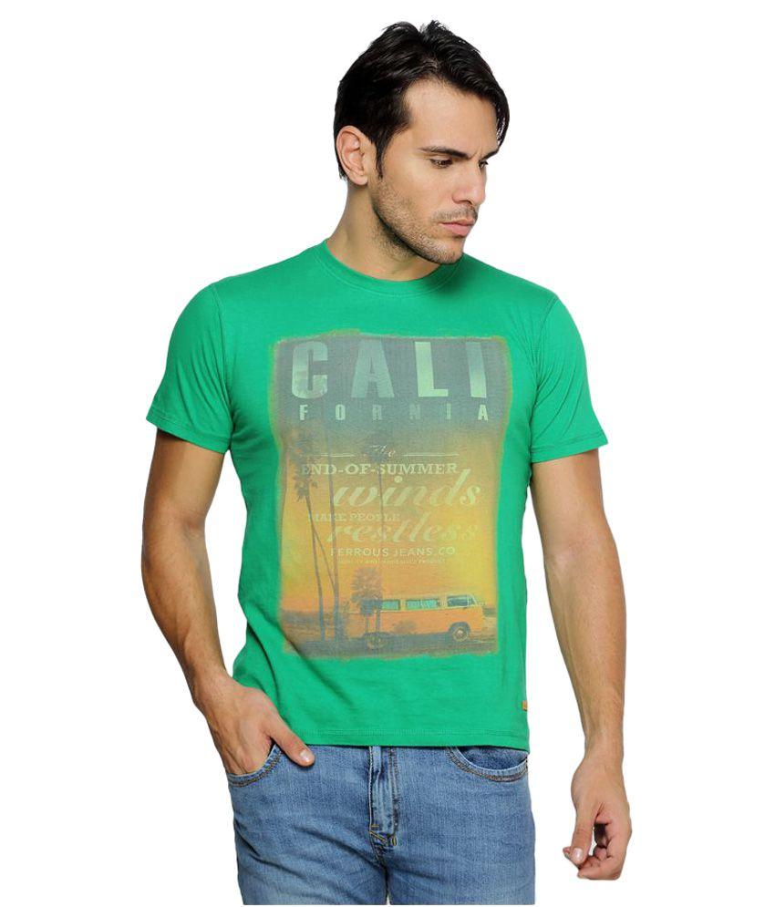 Ferrous Jeans Green Round T-Shirt