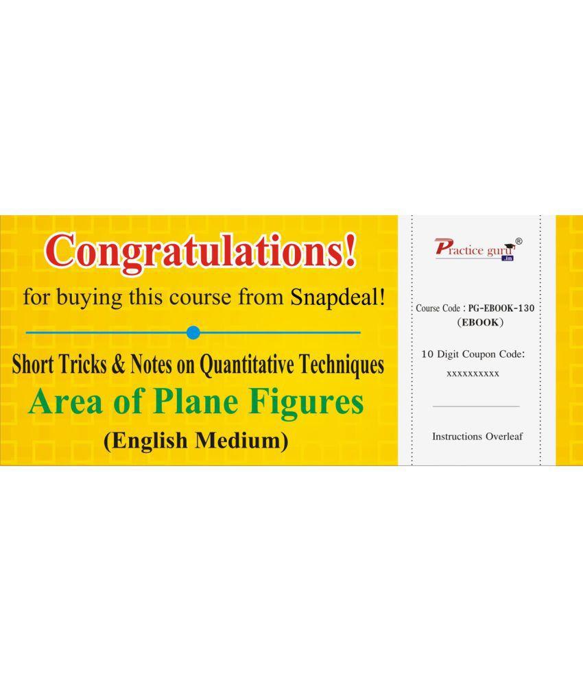 Short Tricks and Notes on Quantitative Techniques - Area of Plane Figures License/Redemption Code - Online