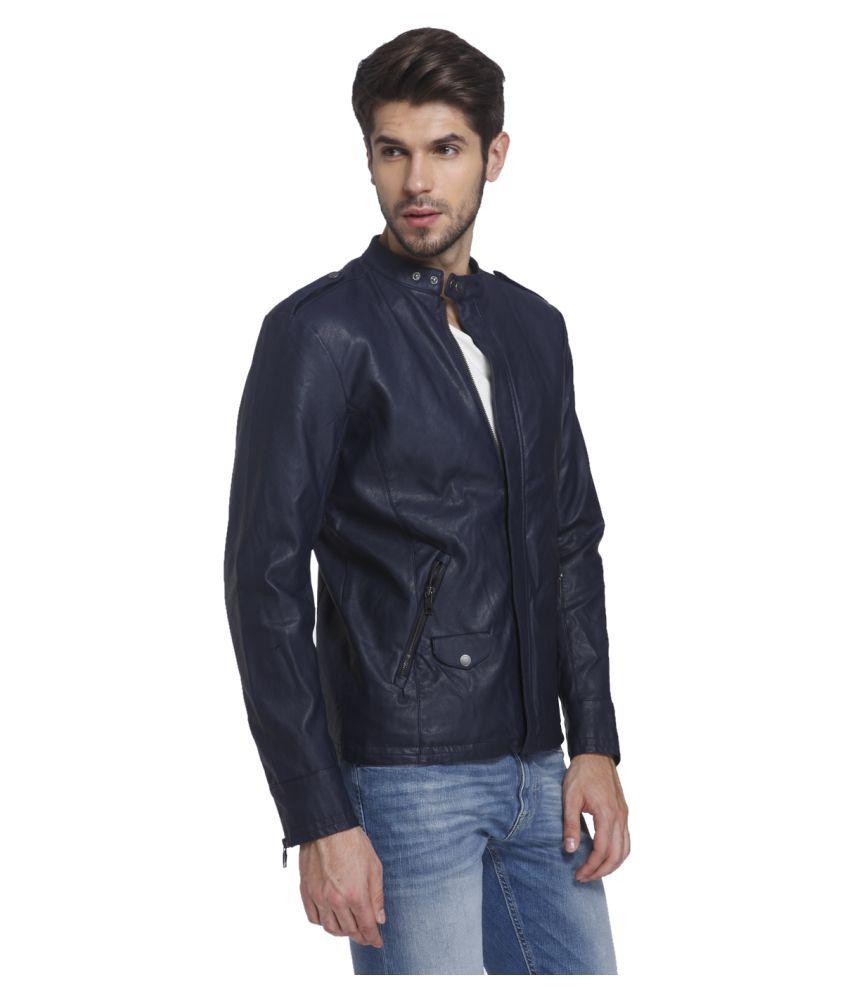 Leather jacket jack and jones - Jack Jones Navy Leather Jacket Jack Jones Navy Leather Jacket