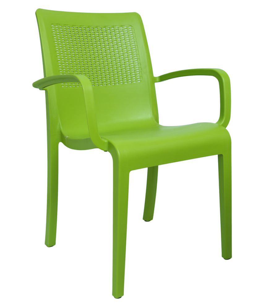 cello elegant chair set of 4 in green colour