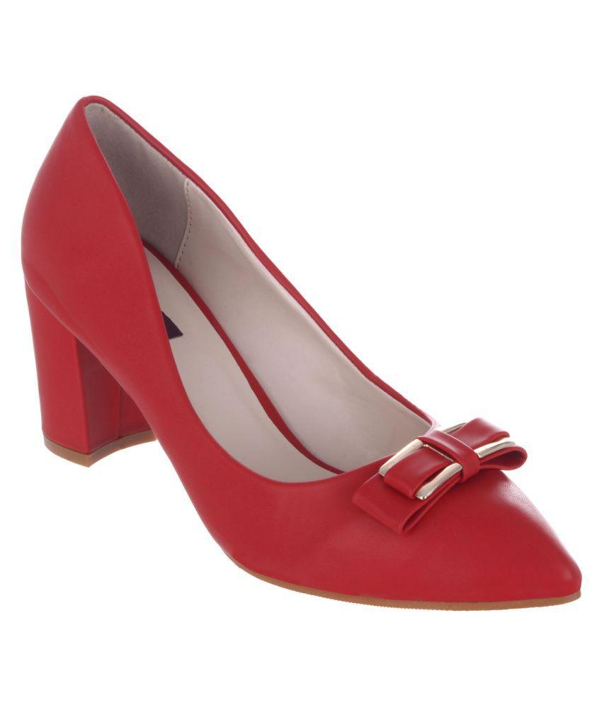 Shuz Touch Red Block Heels