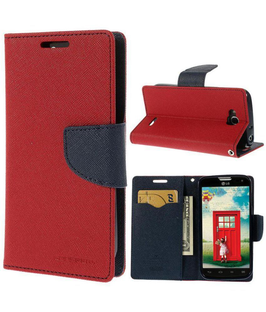 Moto G Flip Cover by Goldenize - Red