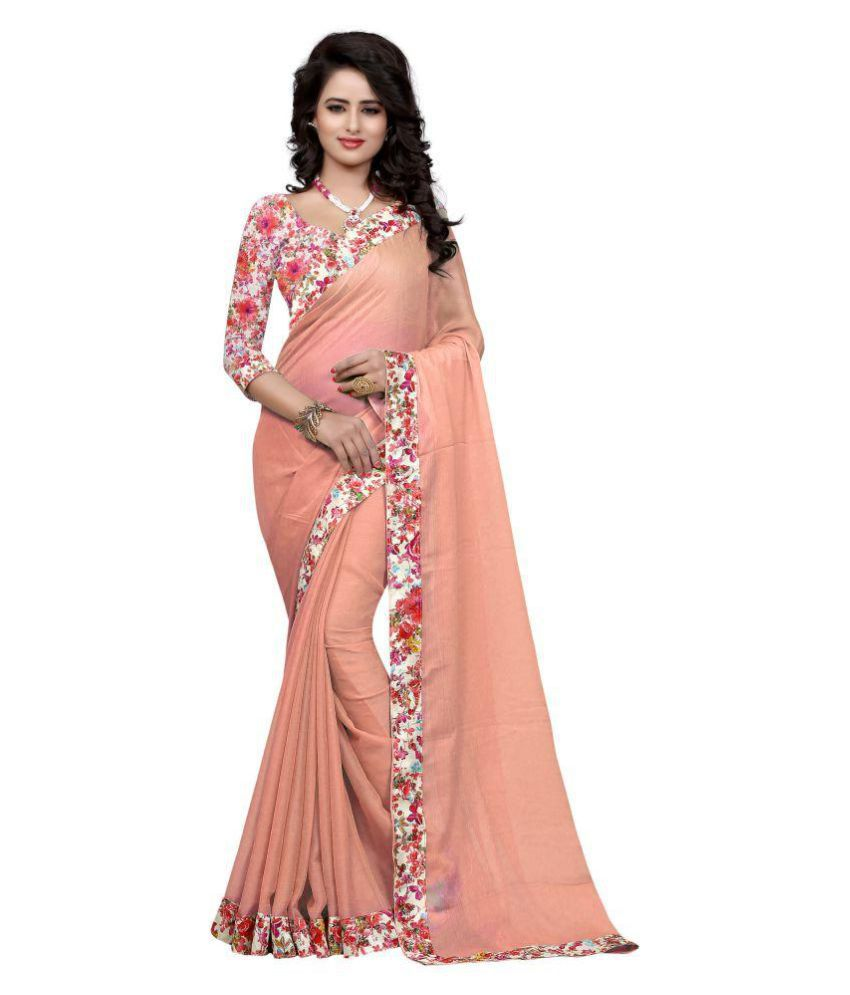 Pulse Peach Jacquard Saree