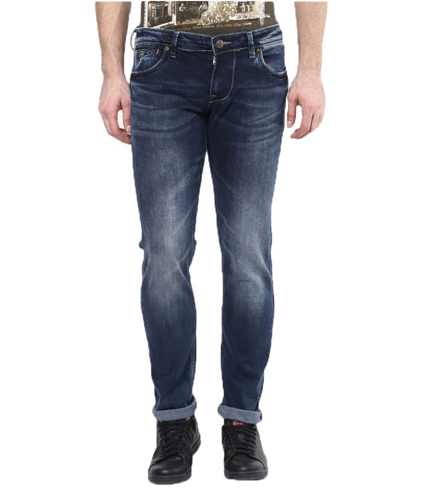 Lawman Pg3 Navy Blue Skinny Jeans