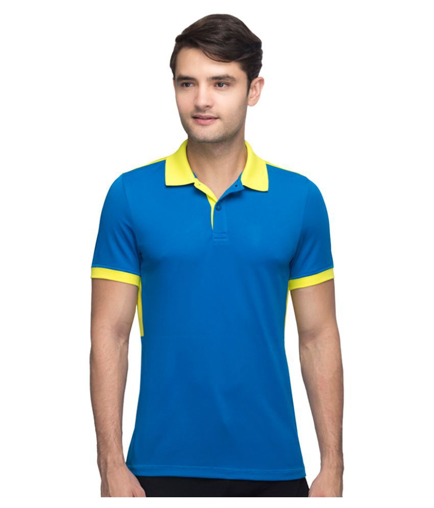 Reebok Blue Polyester Polo T-shirt