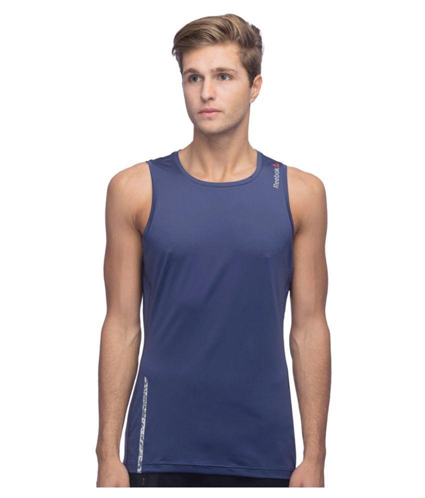Reebok Navy Cotton Blend T Shirt