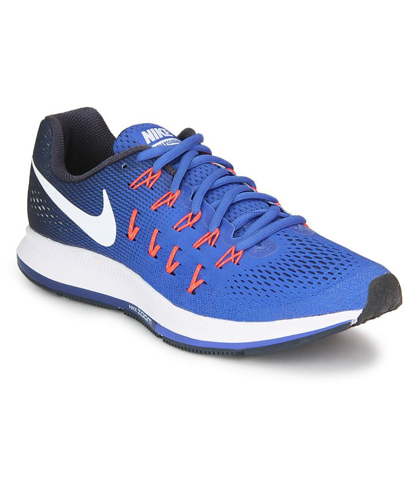 f2a2e347d1f5 Nike Air Zoom Pegasus 33 Blue Running Shoes - Buy Nike Air Zoom Pegasus 33  Blue Running Shoes Online at Best Prices in India on Snapdeal