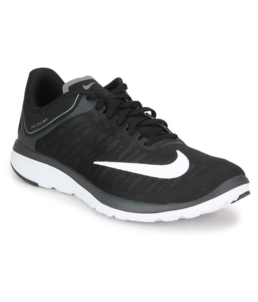 499b6c4ea59 Nike FS LITE RUN 4 Black Running Shoes - Buy Nike FS LITE RUN 4 Black  Running Shoes Online at Best Prices in India on Snapdeal