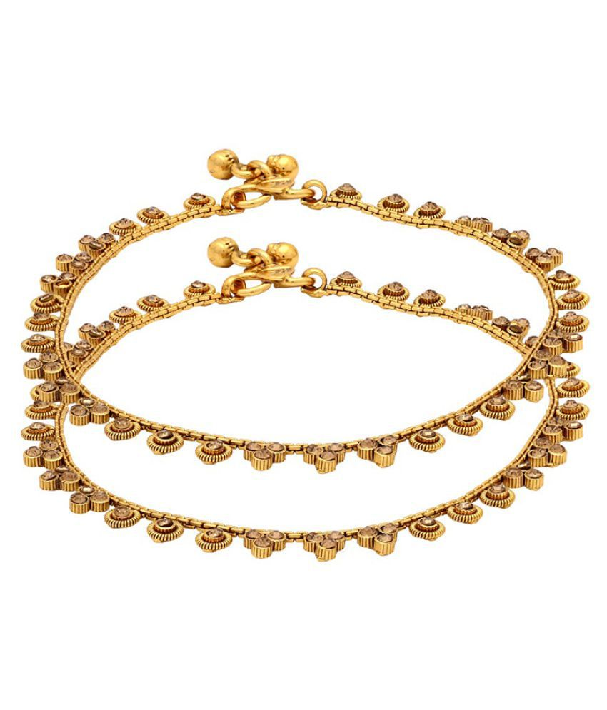 Voylla Golden Alloy Anklets