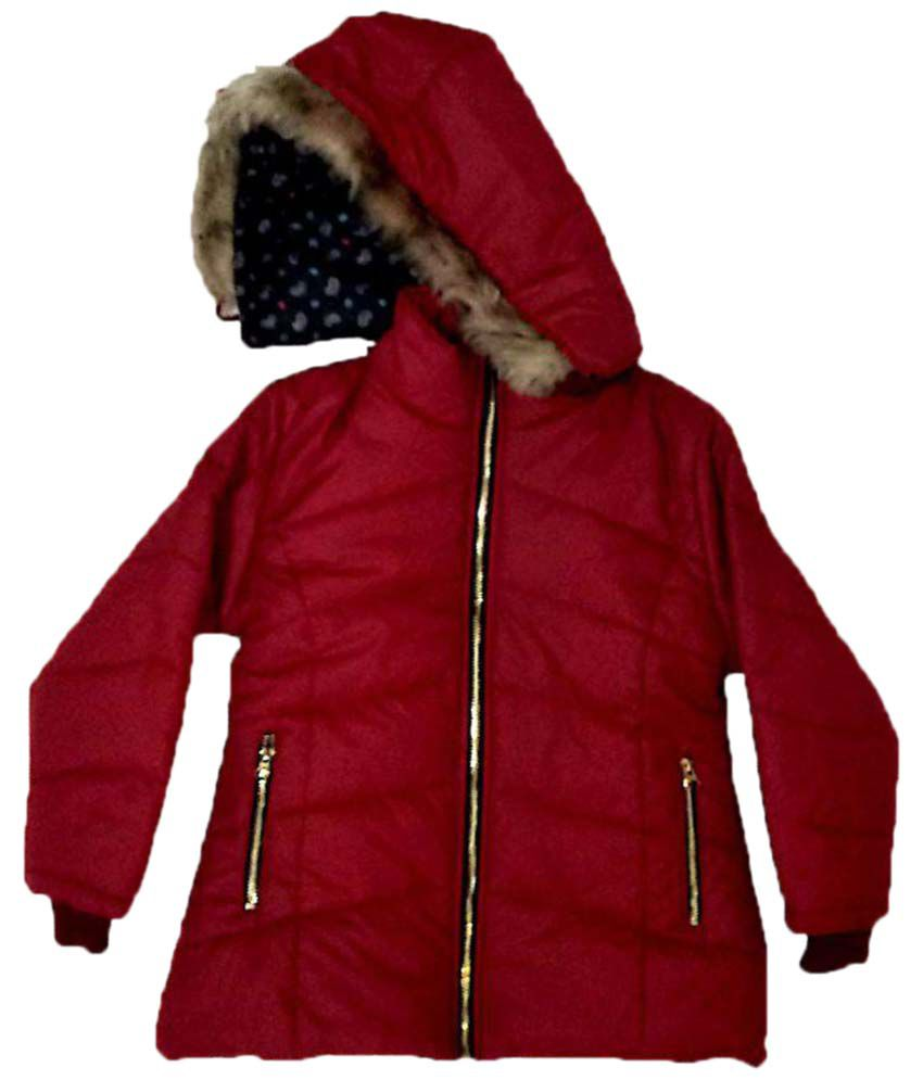 Cuddlezz Maroon Quilted Jacket