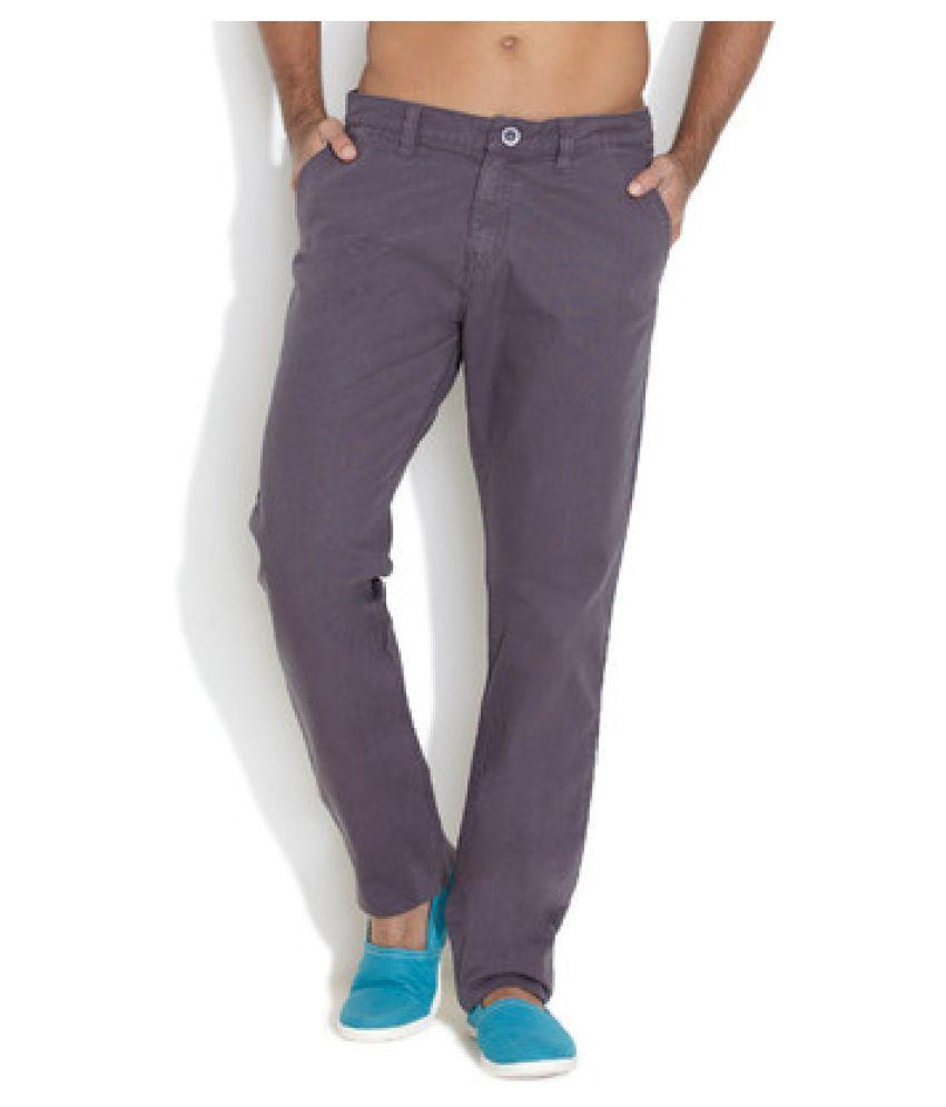 Ferrous Jeans Grey Slim Flat Chinos