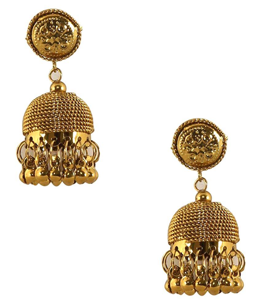 Jewels Capital Golden Earrings