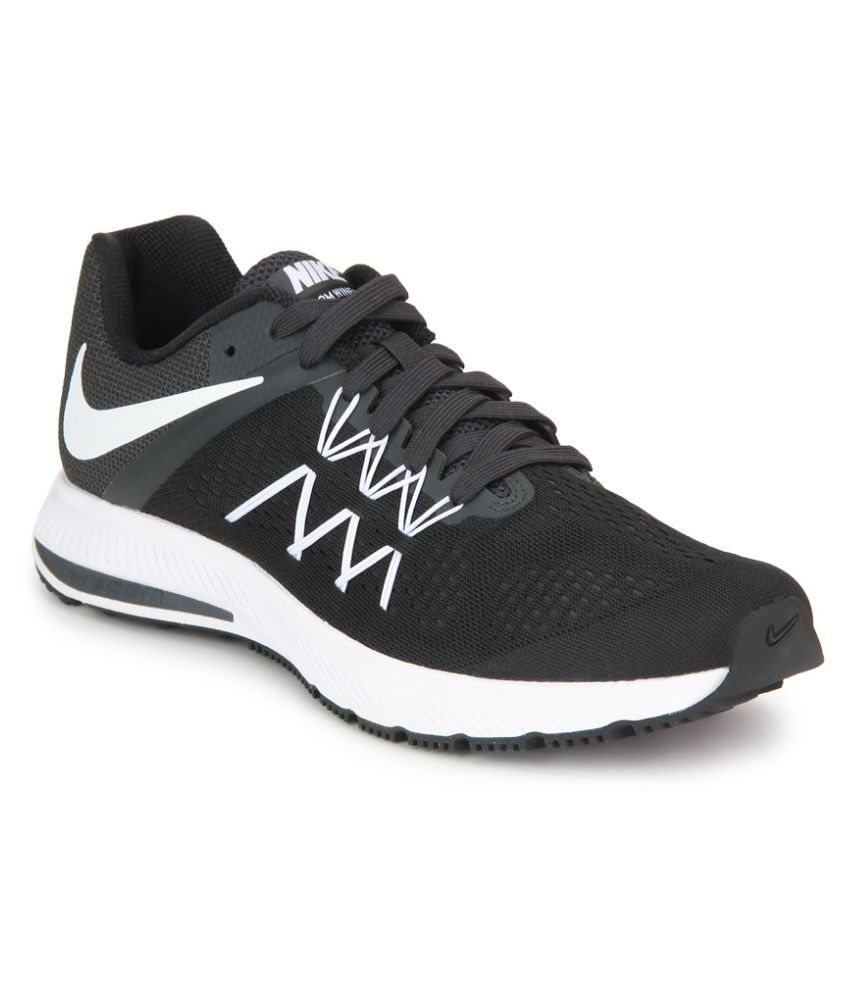 aab9086750aa Nike Zoom Winflo 3 Black Running Shoes - Buy Nike Zoom Winflo 3 Black Running  Shoes Online at Best Prices in India on Snapdeal