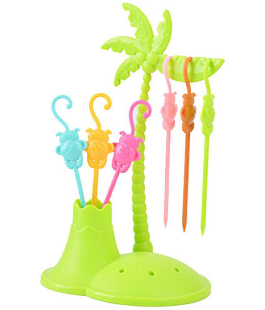 Skycandle 6 Pcs Plastic Fruit Fork: Buy Online at Best ...