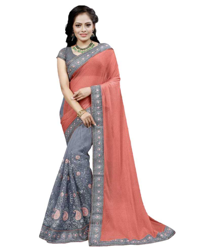 Oin Creation Multicoloured Lycra Saree
