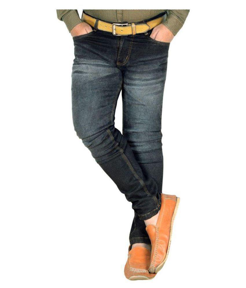 L,Zard Black Slim Jeans