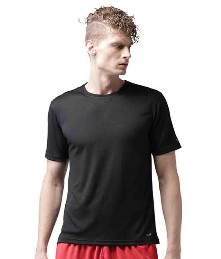 2GO Black Polyester T Shirt
