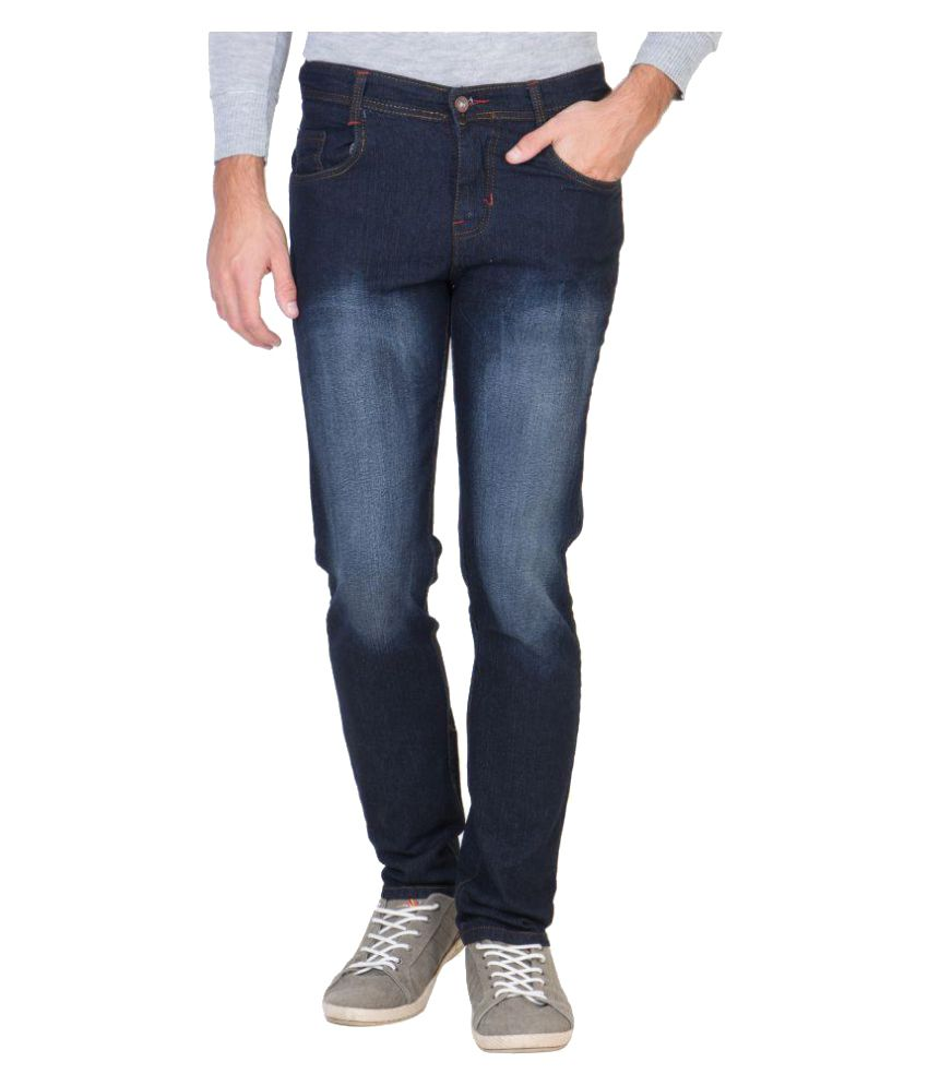 Awadh Blue Relaxed Jeans