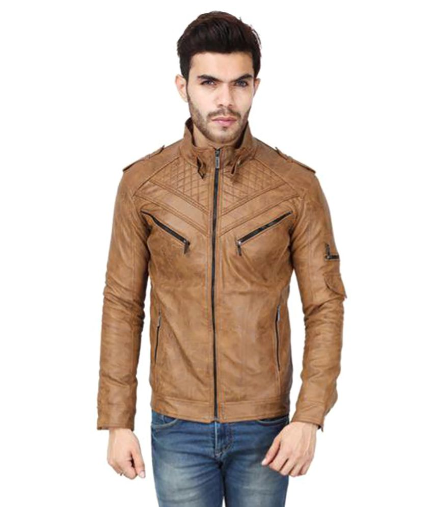 Derbenny Beige Leather Jacket