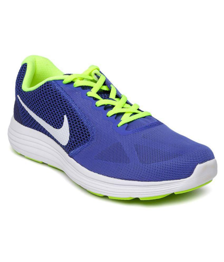 3aa5a91d0bc Nike Revolution 3 Blue Running Shoes available at SnapDeal for Rs.3324