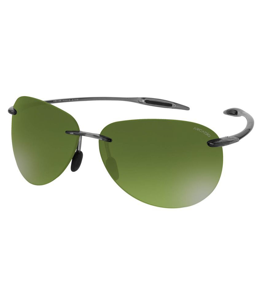 Arcadio Green Oval Sunglasses ( AAR165GY-GR )