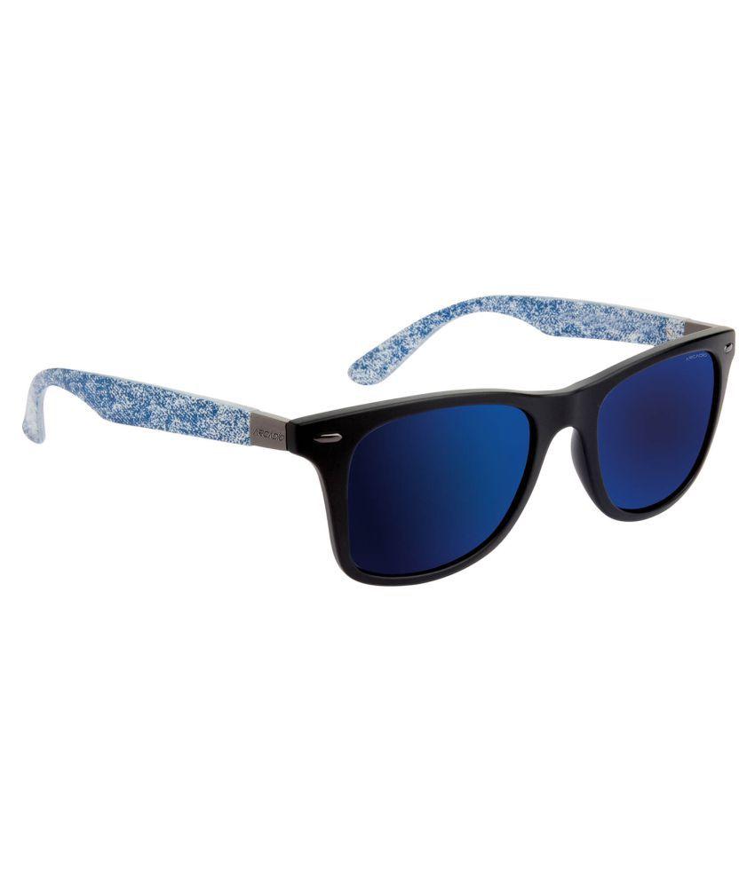Arcadio Blue Wayfarer Sunglasses ( AAR189JN-BLP )