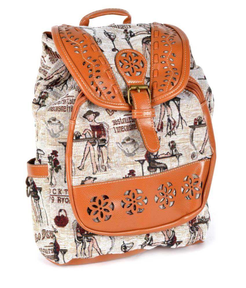 Kleio Brown Canvas Backpack