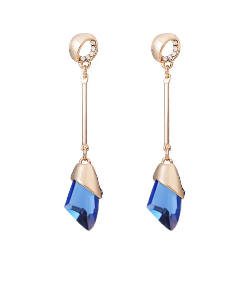 Ziory Blue Drop Earrings
