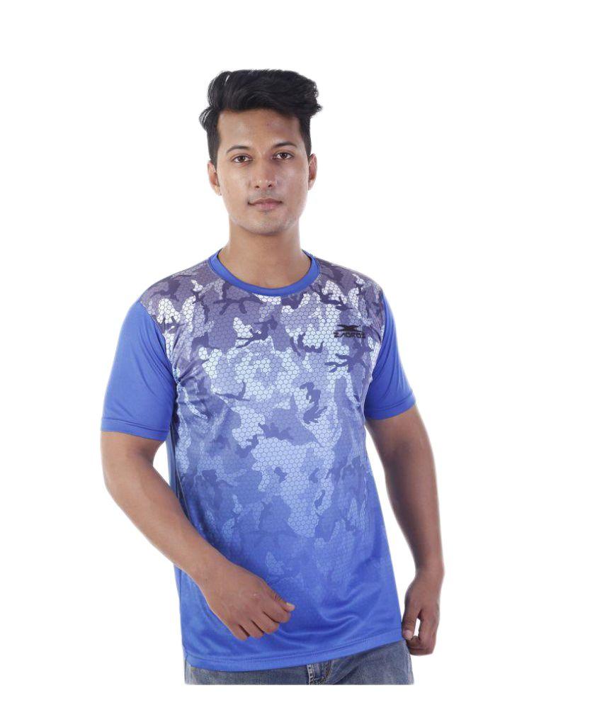 Zagros Blue Round T-Shirt