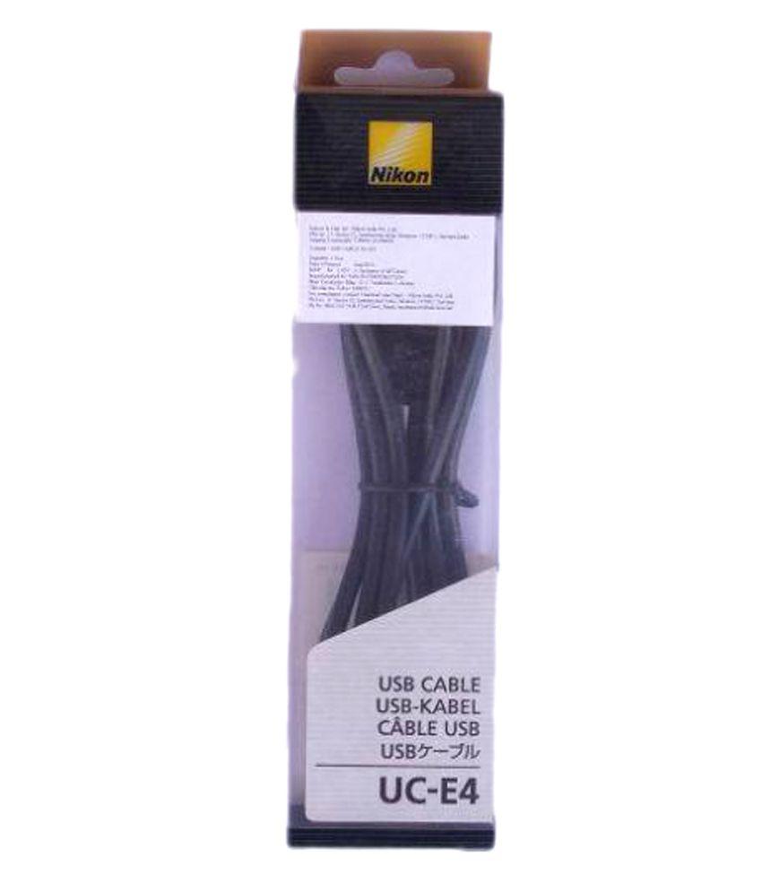 Nikon UC E4 USB Cable Black