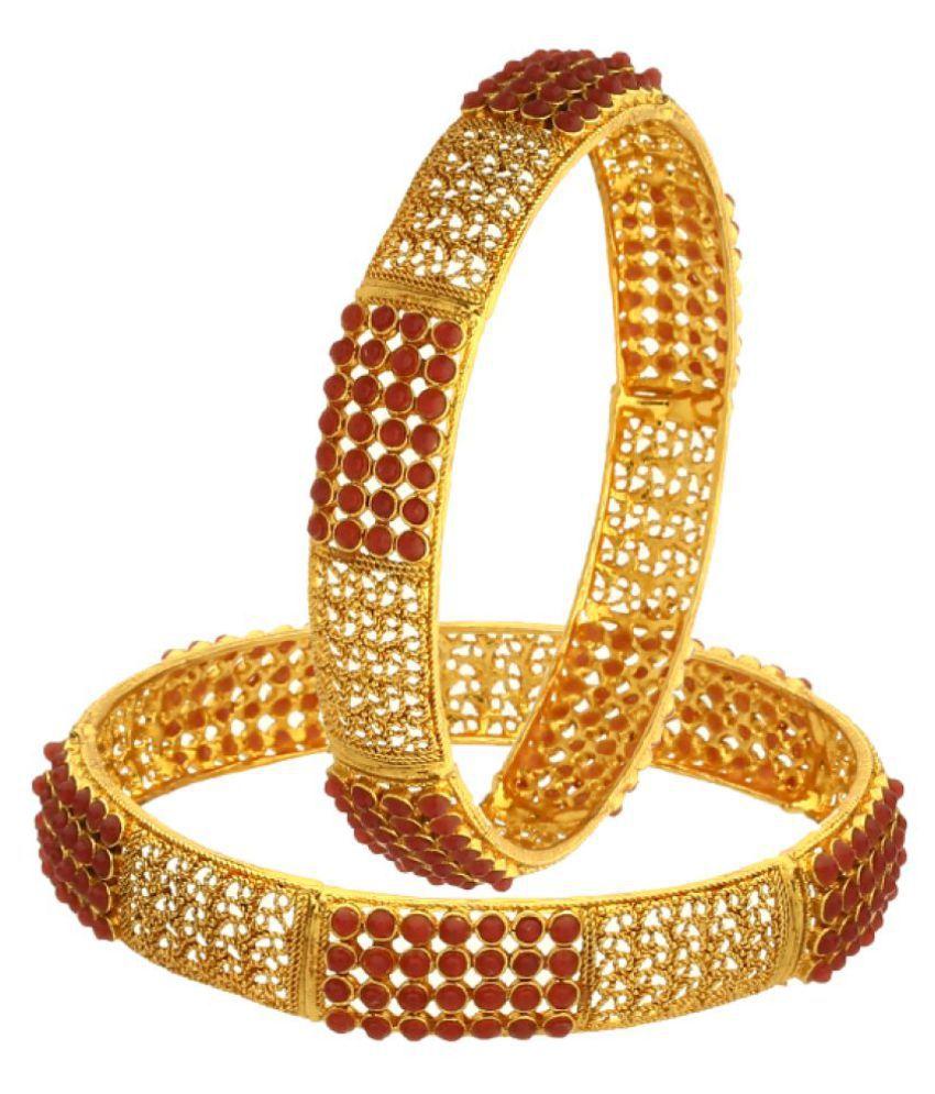 Zeneme Golden Set of 2 Bangle Set