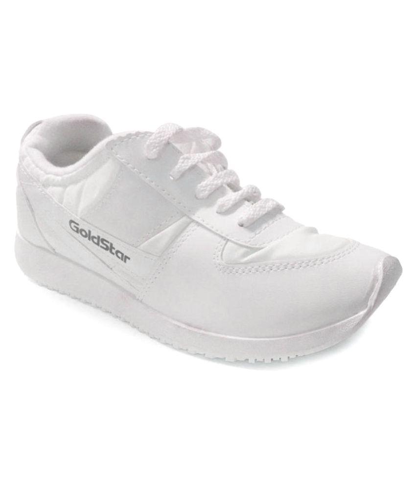 Goldstar White Running Shoes