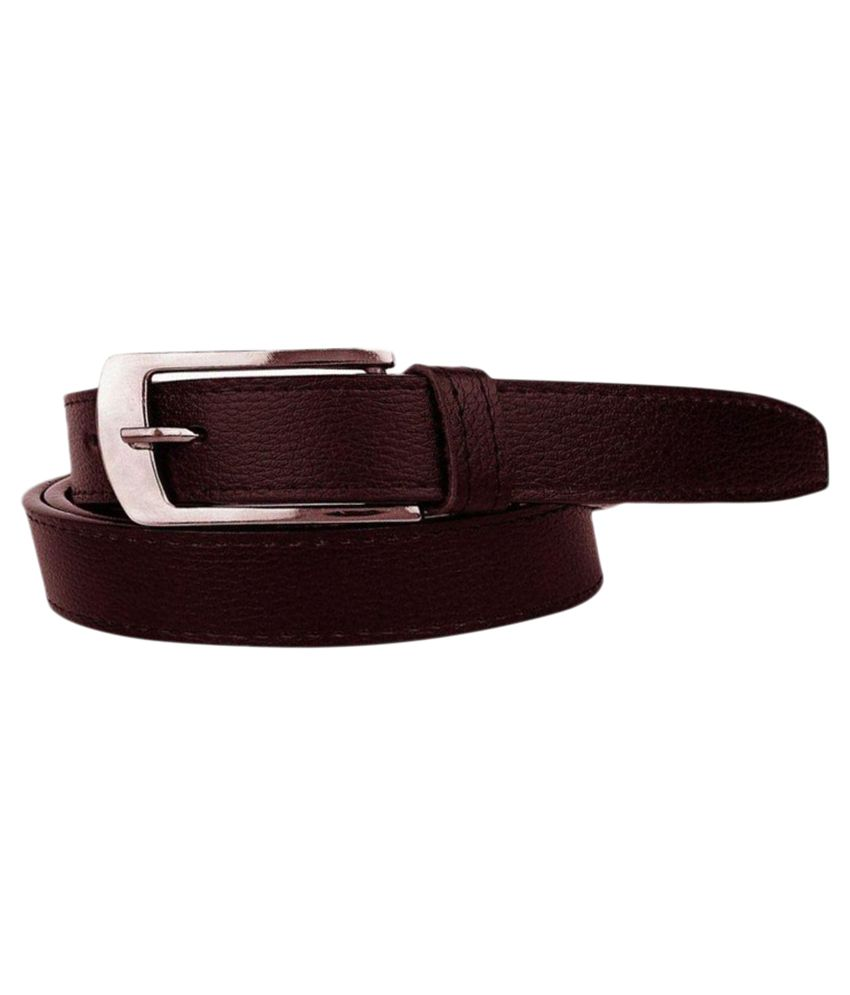Vareity Maroon Leather Formal Belts