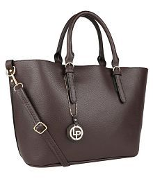 LINO PERROS BROWN Faux Leather Handbags Accessories