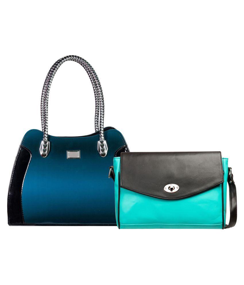 Louise Belgium Multi Artificial Leather Handbag with Sling Bag