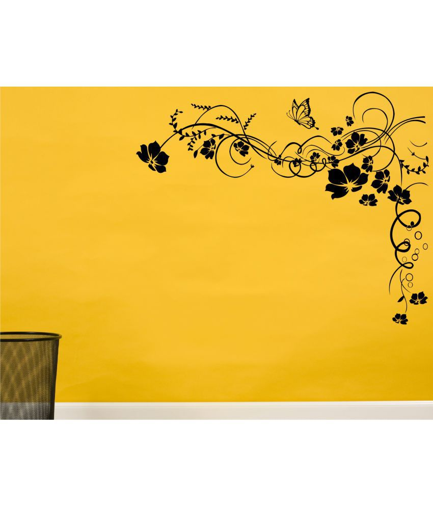 wall guru flower vine wall decal vinyl wall stickers buy wall wall guru flower vine wall decal vinyl wall stickers
