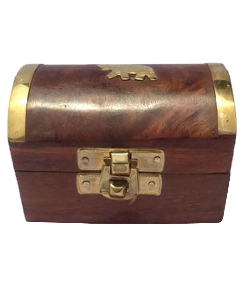 Desi Karigar Brown Jewellery Box