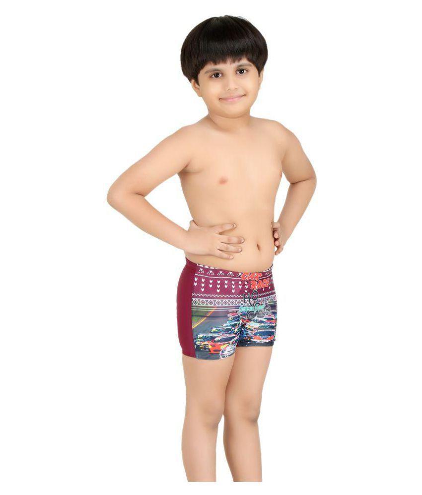 bfaa7d75269 Fashion Fever Multicolour Cotton Spandex Swim Bottoms for Boys - Buy ...