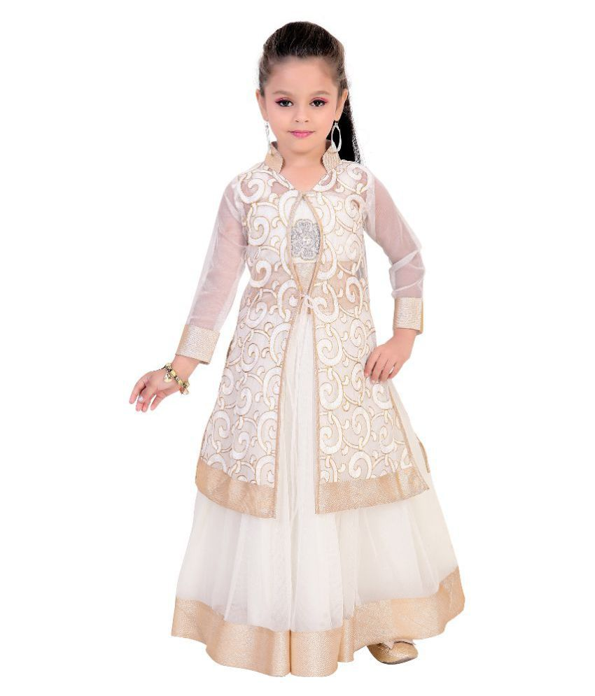 07db1c329a7 Fusion India White Net Gown for Girls - Buy Fusion India White Net Gown for  Girls Online at Low Price - Snapdeal